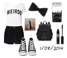 """1/08/2014"" by apcquintela ❤ liked on Polyvore featuring Boohoo, Lipsy and Converse"
