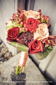 Love the colors in this bouquet Wedding Bells, Fall Wedding, Wedding Ideas, Wedding Stuff, Rose Arrangements, Dried Flowers, Unique Weddings, Wedding Engagement, Wedding Bouquets