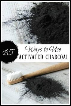 Looking for more ways to use activated charcoal? There are so many ways to use activated charcoal. Learn these 45 ways to use it in skincare, remedies, the home, and even food! #activatedcharcoal #charcoalfacemask #charcoalremedies #naturalremedies #greenbeauty Holistic Remedies, Natural Home Remedies, Herbal Remedies, Health Remedies, Natural Skin Care, Natural Health, Natural Foods, Activated Charcoal Uses, Natural Living