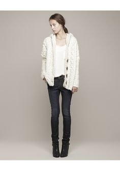 Sorry Isabel Marant, I think THIS is the cream sweater I've been searching for!  Rag & Bone / Adirondack Hooded Cardigan