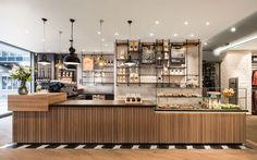 Coffee shop interiors, coffee cafe interior, cafe shop design, coffee bar d Restaurant Design, Deco Restaurant, Modern Restaurant, Coffee Shop Counter, Cafe Counter, Coffee Shop Bar, Wood Counter, Café Bar, Bar Interior