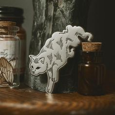 Ghost Cat, Emblem, Cool Pins, Pin And Patches, Up Girl, Pin Badges, Lapel Pins, Pin Collection, In This World