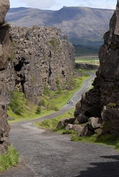 ... at Thingvellir National Park in Iceland. (Pingvellir)(Þingvellir