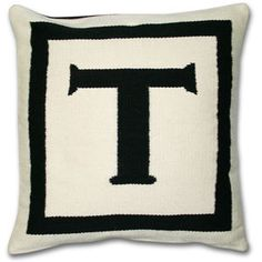Personalization With Panache!These groovy, reversible throw pillows are natural and black on one side and black and natural on the other. Grab a few to spell out your favorite word (ours is L-O-V-E) or pick two letters to personalize your space.All of our graphic pillows are hand-loomed in Peru by weavers associated with Aid to Artisans.