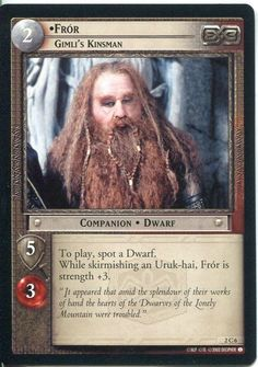 Lord Of The Rings CCG Card MoM 2.C6 Fror Gimli's Kinsman -- Insider's special review you can't miss. Read more  : FREE Toys and Games