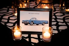 Vintage car table numbers | cyndi hardy photography