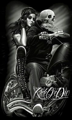 David Gonzales Art DGA Ride or Die Biker Babe Tattoo Chicano Queen Blanket