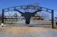 Entry gate idea except change the longhorn to a show steer!