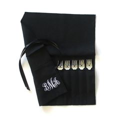 This set of antique sterling silver cocktail forks needed a beautiful storage solution, and a Sherwood Silver Bags anti-tarnish flatware roll fit the bill perfectly! Silver Cutlery, Silver Bags, Sterling Silver Flatware, Flatware Set, Silverware Storage, Gothic Home Decor, Contemporary Home Decor, Personalized Wedding Gifts, Beautiful Gifts
