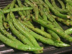 Grilled greenbeans