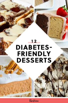 Having diabetes shouldn't mean you have to miss out on all the sweet treats everyone else is eating. Luckily, you don't have to, with the help of these 12 sugar-free desserts. Diabetic Friendly Desserts, Diabetic Recipes, Healthy Desserts, Diabetic Foods, Diabetic Cookies, Diabetic Sweets, Diabetic Drinks, Diet Recipes, Diabetes Tattoo