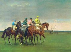 Sir Alfred Munnings October Meeting Goutelette print.