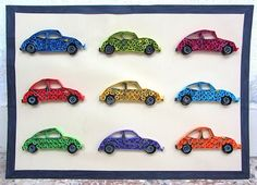 Experiments in Quilling - Cars! on Behance