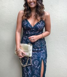 haute off the rack, lace midi dress, green lace dress, revolve dress, tory burch bag, small fleming quilted leather shoulder bag, gold purse, women's handbag, women's fashion, holiday style, christmas eve dress