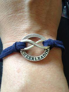 Cheerleading Forever Bracelet....custom colored strap on Etsy, $7.00