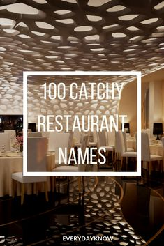 100 Catchy Restaurant Names