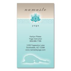 Yoga, Pilates Business Card w/ Flower