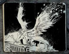 #284 Wings Wide Open by 365-DaysOfDoodles on DeviantArt