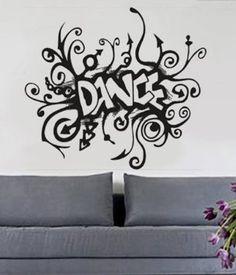 dance wall decal girls bedroom wall sticker girls nursery wall decor subway art tapp ballet. Black Bedroom Furniture Sets. Home Design Ideas
