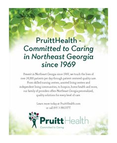 Committed to Caring in Northeast Georgia since 1969    Present in Northeast Georgia since ... | PruittHealth Spring Valley - Elberton, GA #georgia #ElbertonGA #shoplocal #localGA