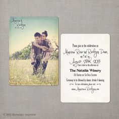 "reserved for sandid8 - Vintage Wedding Invitation & RSVP - the ""Marissa"""
