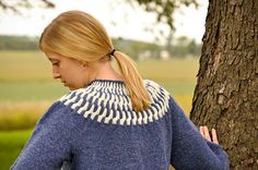 Ravelry: Cully's Cabled Yoke Sweater pattern by Cully Swansen