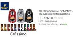 """Tchibo: Cafissimo Compact mit 110 Kapseln für 35 Euro frei Haus https://www.discountfan.de/artikel/essen_und_trinken/tchibo-cafissimo-compact-mit-110-kapseln-fuer-35-euro-frei-haus.php Viel Koffein für wenig Geld: Bei Ebay ist jetzt für einen Tag die """"Tchibo Cafissimo Compact"""" mit 110 Kapseln für 35 Euro frei Haus zu haben. Verfügbar ist das Modell in rot, schwarz und silber. Tchibo: Cafissimo Compact mit 110 Kapseln für 35 Euro frei Haus (Bild: Ebay.de) D"""