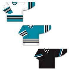 6c1be6963 Athletic Knit Old San Jose Sharks Knit Jerseys San Jose Sharks
