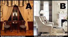 It's #YouChooseTuesday! If you were to have a classic parlour room in your home, which style would you prefer?