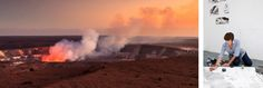 11 of the World's Most Unusual Artist Residencies Kilauea caldera Hawaii at full smoke
