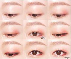 粉紅眼妝 單眼皮 - Google Search