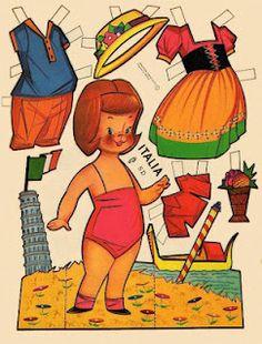 (⑅ ॣ•͈ᴗ•͈ ॣ)♡                                                             ✄Bambola di carta edita negli anni sessanta in Messico da Editor EP