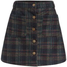 Checkered Pockets Buttons A-Line Skirt ($13) ❤ liked on Polyvore featuring skirts, bottoms, multicolor, tartan plaid skirt, short plaid skirt, short skirts, multi colored skirt and a-line skirt
