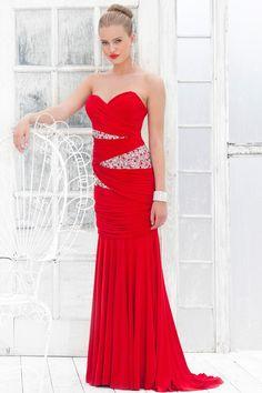 Sweetheart parole longueur robe de fête en Jersey - Robes de Mariage Boutique