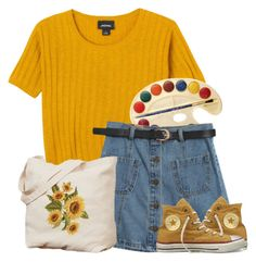 """""""Untitled #182"""" by tater-titties on Polyvore featuring Monki, Chicnova Fashion and Converse"""