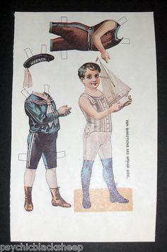 Repro Vintage Dr Warner's Perfection Waist Corset Ad Paper Doll Postcard Unused | eBay