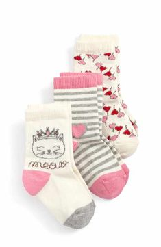 Tucker + Tate Kitty Heart Crew Socks (Toddler, Little Kid & Big Kid) Tween Girl Gifts, Tween Girls, Kids Socks, Baby Socks, Tucker Tate, Knee High Socks, Cotton Socks, Crew Socks, Knitting Socks
