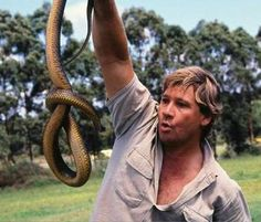 Steve Irwin, a modern legend of a man.  Passionate is his education and life's dedication to preserving nature.