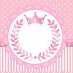 Convite kit festa Realeza Rosa