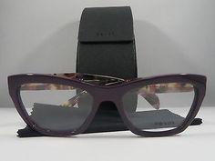 04a1d630710a Prada VPR 14Q ROM-1O1 Purple on Havana New Authentic Eyeglasses 53mm w  Case