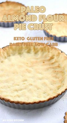 Paleo Pie Crust - A delicious gluten free flaky and buttery almond flour pie crust that is low carb, keto and can be made dairy free or paleo! Paleo Pie Crust, Almond Flour Pie Crust, Gluten Free Pie Crust, Pie Crust Recipes, Almond Pie Crust Recipe, Low Carb Pie Crust, Pie Crusts, Coconut Flour, Dairy Free Low Carb