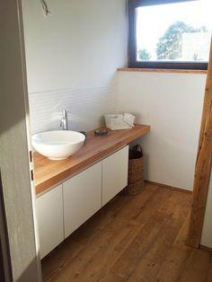 Bad, Bathroom, Renovierung, Balken, Holz,