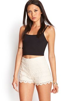 Crochet Lace Shorts   FOREVER21 #SummerForever #Lace