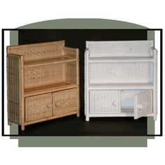 Bathroom Cabinet via @wickerparadise #bathroom #wicker #cabinet www.wickerparadise.com