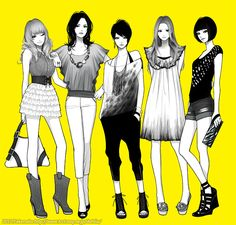 Kai Fine Art is an art website, shows painting and illustration works all over the world. Illustration Girl, Character Illustration, People Illustration, Character Outfits, Character Art, Manga Girl, Manga Anime, Arte Fashion, Animation