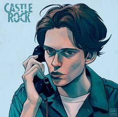 Castle Rock art by ana. Bill Skarsgard Hemlock Grove, Roman Godfrey, Tv Show Games, Celebrity Photography, Castle Rock, Twin Peaks, Movies Showing, Flower Boys, Rock Art