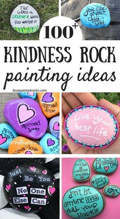 Need encouraging rock painting ideas? Here are more than 100 encouraging quotes, sayings and more to paint on your kindness rocks. # encouragement Quotes Kindness Rock Painting Ideas & Sayings Rock Painting Patterns, Rock Painting Ideas Easy, Rock Painting Designs, Painting For Kids, Family Painting, Paint Ideas, Pebble Painting, Pebble Art, Stone Painting
