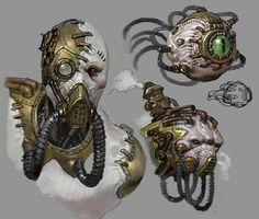 Robot Concept Art, Creature Concept Art, Robot Art, Creature Design, Arte Steampunk, Steampunk Armor, Steampunk Characters, Warhammer Art, Cyberpunk Art