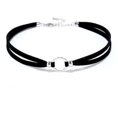 Circle Around Black and Silver Choker (60 BRL) ❤ liked on Polyvore featuring jewelry, necklaces, silver, beaded jewelry, bead charms, sport charms, circle necklace and circle charms