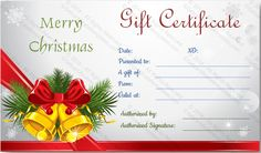 download options for christmas bells gift certificate template voucher templates word